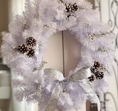 sparkly and white winter wreath inspired