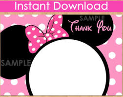 minnie mouse thank you cards minnie mouse thank you card light pink chalkboard minnie
