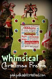 whimsical christmas frame and free printables pink polka dot