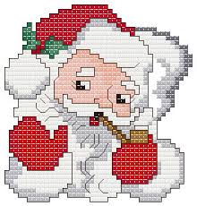 santa ornament cross stitch pattern ornaments