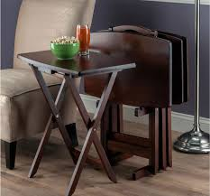 harmony curved edge tray tables tv trays snack tables
