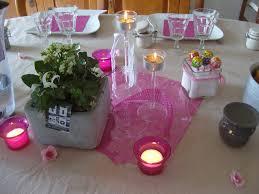 deco table rose et gris dans la maison de séverine déco de table en gris et rose