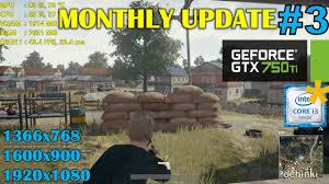 pubg 750 ti gtx 750 ti playerunknown s battlegrounds monthly update 3