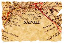 Map Of Naples Italy by Naples Or Napoli Italy On An Old Torn Map From 1949 Isolated