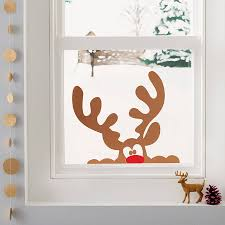 peeping reindeer window sticker by nutmeg notonthehighstreet com