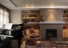Small Living Room With Fireplace And Piano Modern Custom Homes Edina Mn Ny Lilu Interiors
