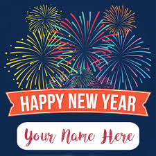 new year name wishes celebration card sent