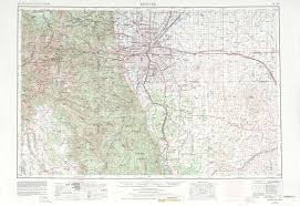 Map Of Denver Colorado Denver Topographic Map Topographic Map