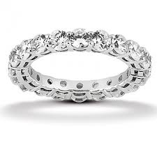 eternity wedding bands designer inspired prong set eternity wedding band 15ct in
