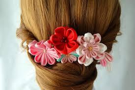 tsumami kanzashi hair comb kimono yukata wedding ornament