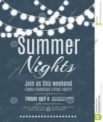 summer night party invitation stock vector image 42476951