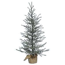 decoration ideas artificial frosted pine tree designed with