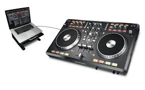 dj table for beginners mixtrack pro 2 channel dj controller with audio i o numark