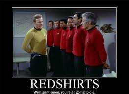 Red Shirt Star Trek Meme - star trek sci fi blog star trek s classic redshirts