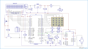 Rf Switch Matrix Schematic Diagrams Rfid Based Security System Using 8051 Microcontroller