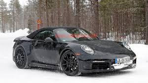 porsche 911 winter porsche 911 cabriolet joins the coupe for winter testing
