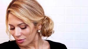 martha stewart hair style video chic chignon hairstyle in under 5 minutes martha stewart