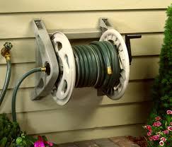 wall mount garden hose reel metal foter liberty garden multi
