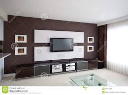modern home theater room interior with flat screen tv royalty free