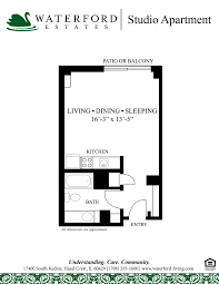 Floor Plans For Studio Apartments by Assisted Living