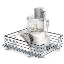 household essentials 14 5 in sliding organizer chrome c1517 1