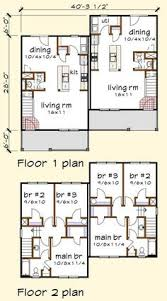 plan 67718mg duplex house plan for the small narrow lot the