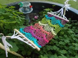 Ideas For A Fairy Garden by Bohemian Fairy Garden Hammock Crocheted Fabric Miniature Fairy