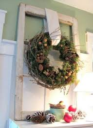 Christmas Window Frame Decoration by Old Window Frame Beautifully Decorated For The Holiday Things I
