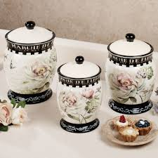 marche de fleurs kitchen canister set kitchen cannisters marche de fleurs kitchen canister set
