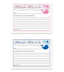 advice for the cards whale theme free baby shower advice for card