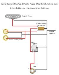 ted crocker wiring diagram 1 single coil 2 piezo 1 vol 3 way