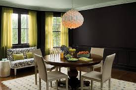black dining room sophisticated color schemes for appetizing dining room home and o