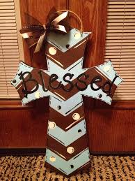 Porch Hangers by Diy Painted Cross Door Hanger My Finished Projects Pinterest