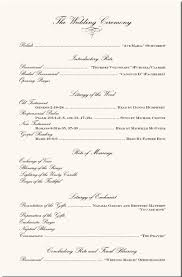 order of ceremony for wedding program wedding program exles wedding program wording wedding ceremony