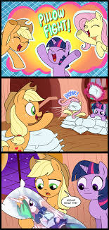 Pillow Fight Meme - pillow fight my little pony friendship is magic know your meme