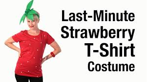 baby strawberry costumes for halloween last minute strawberry t shirt costume youtube