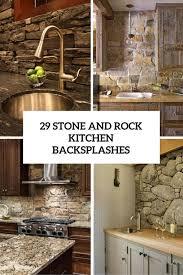 kitchen medallion backsplash rock backsplash kitchen home design ideas and pictures
