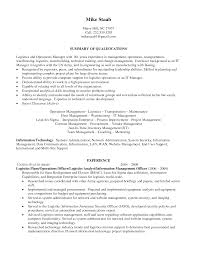 Sample Resume For Procurement Officer by Senior Logistic Management Resume Operations Logistics Manager