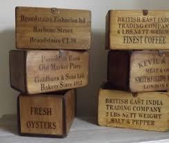antiqued wooden storage box medium maison royale