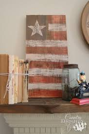 wood american flag country design style