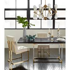 furniture dining room tables bond charcoal wood dining table modern furniture jonathan adler