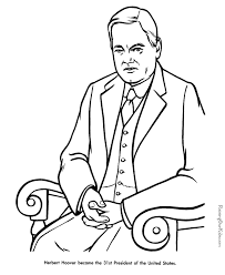 free printable coloring pages of us presidents herbert hoover facts and pictures