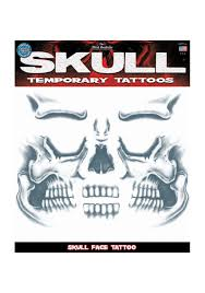 skeleton face for halloween skull face temporary tattoo