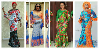 Latest Trends by Trendy Ankara Long Gown Style Combined With Cord Lace