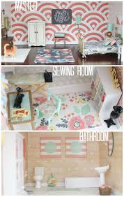 28 best isabella s dollhouse decor images on pinterest dollhouse diy dollhouse master sewing room bathroom by craftiness is not optional