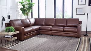 venezia leather sectional and ottoman mateo 4 piece leather sectional video gallery
