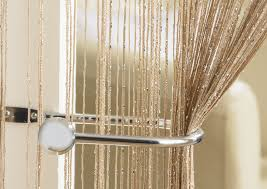 Glitter Curtains Ready Made Glam Latte String Curtain From Net Curtains Direct