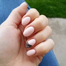 simple round nail designs round tip nail designs tips pink