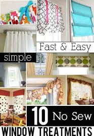 Sewing Window Treatmentscom - no sew window treatment project gallery diy decorating for