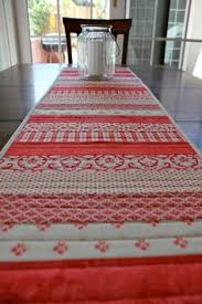 red and white table runner table runner by beckeroo red white blue braid by nesikadesigns